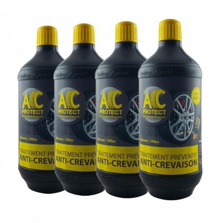 Pack 4 roues voiture citadine / berline - soit 4 bouteilles d'A.C Protect 500ml